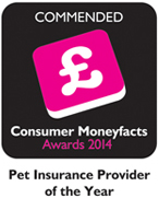 helpucover.co.uk has been named as a 'Commended' Pet Insurance Provider of the Year in the Moneyfacts Awards 2014