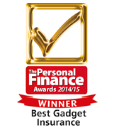 helpucover.co.uk voted Best Gadget Insurance by Personal Finance award 2014/15